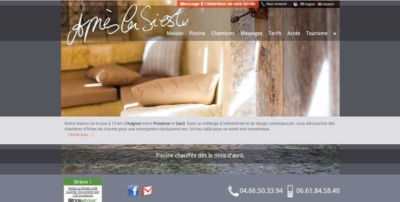 Après La Sieste: maison d'hôtes de charme à Saint Laurent Des Arbres, dans le Gard (30).